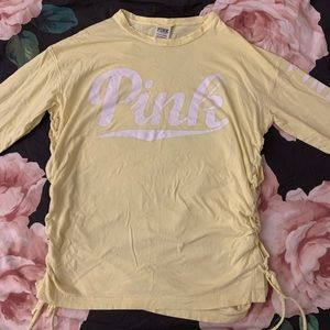 victoria's secret pink long sleeve shirts